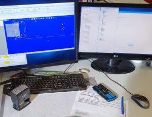 CAD CAM Simulation im Büro